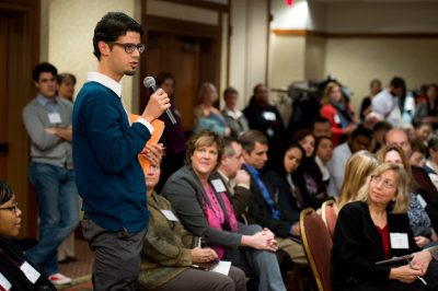Future Faculty participant Mauro Caraccioli at 2014 Advancing Diversity workshop