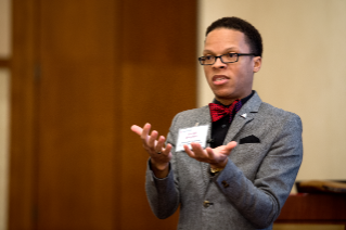 Keynote speaker Terrell Strayhorn at 2014 Advancing Diversity workshop