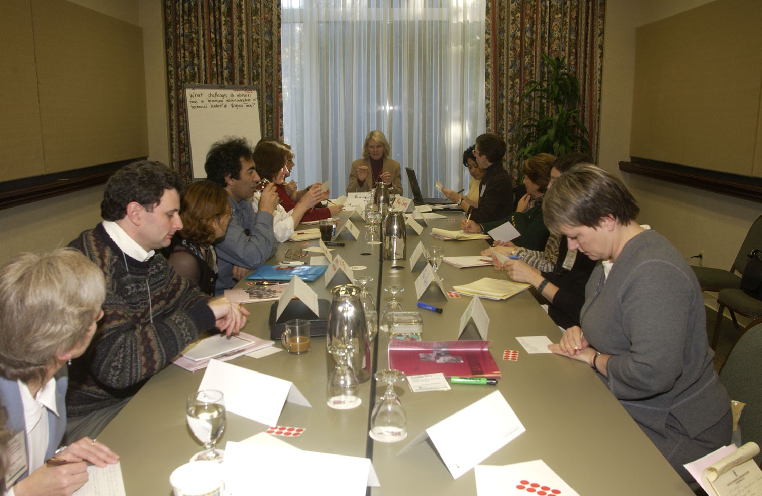 Breakout group discussion at 2004 workshop
